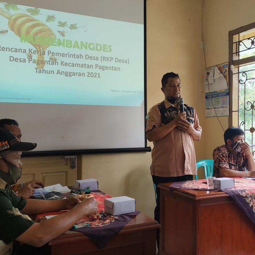 Musrenbangdes Pagentan Prioritaskan Pembangunan Desa yang Tertunda Akibat Pandemi Covid19